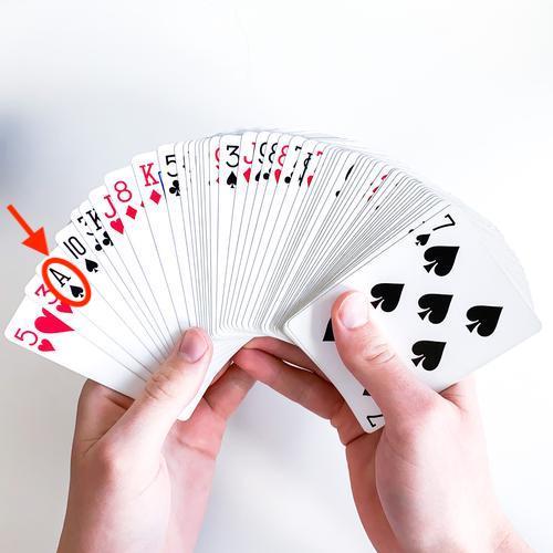 Aufgedecktes Kartendeck