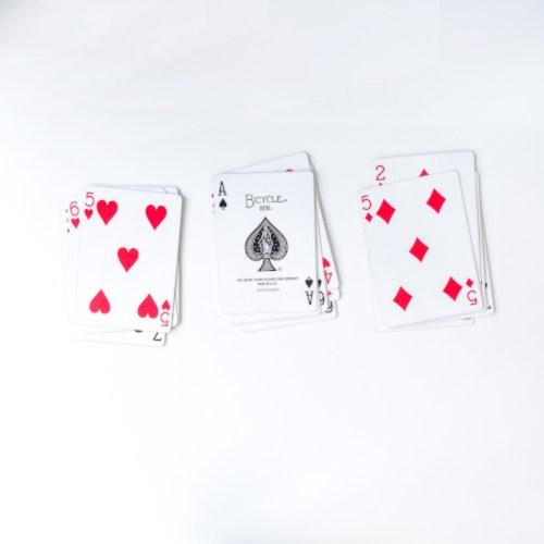 Drei Kartenstapel