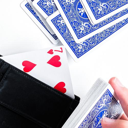 Herz-Sieben im Portemonnaie